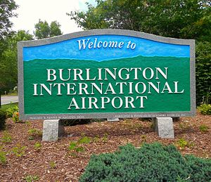 Burlington International Airport - BIA Main Entrance sign
