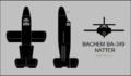 Bachem Ba 349 Natter three-view silhouette.png