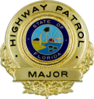 Badge of a Florida Highway Patrol major.png
