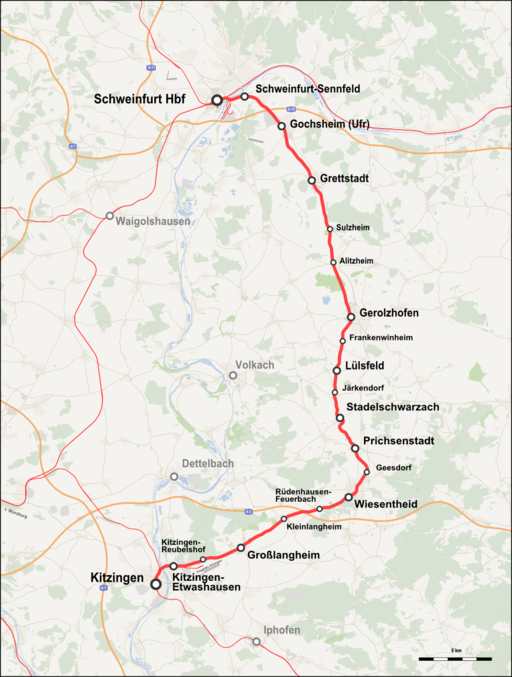 Bahnstrecke Kitzingen–Schweinfurt