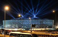 Das Nationalstadion in Baku im Juni 2015
