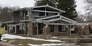 National Register of Historic Places listings in Yankton County, South Dakota - Image: Banton House (Yankton, SD) from SE 2