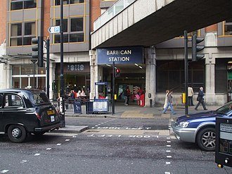 Barbican tube station - The entrance today