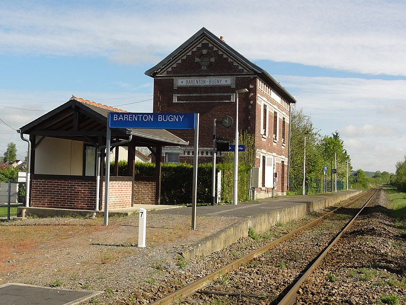 Barenton-Bugny (Aisne) la gare