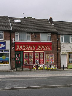Bargain Booze Chain of off-license tin the UK
