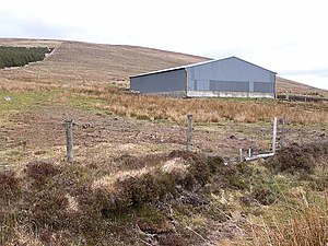 Glinsk, County Mayo - Image: Barn at Glinsk Mountain