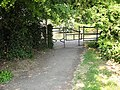 Barrier to the towpath - geograph.org.uk - 2388112.jpg