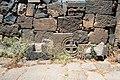 Basilica Complex, Qanawat (قنوات), Syria - East part- detail of wall with repurposed material - PHBZ024 2016 1500 - Dumbarton Oaks.jpg