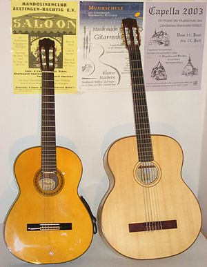 Prime and bass acoustic guitars