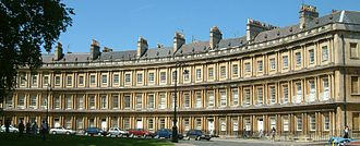 Terraced houses in the United Kingdom - The Circus at Bath is a classic example of a Georgian terrace.