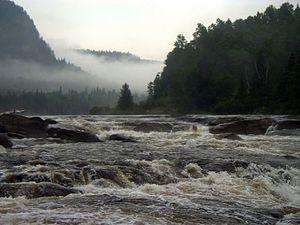 Batiscan River - Batiscan River rapids.