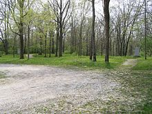 Encampment area of the American Troops, when they were attacked by the Miami Nation Battle of Mississinewa.JPG