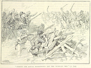 Battle of Tebbs Bend - An illustration of the battle