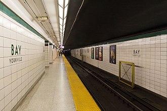 Bay station (Toronto) - Image: Bay (TTC) Eastbound Platform