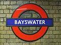 Bayswater station roundel.JPG