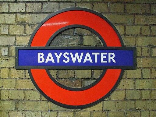 Bayswater station roundel