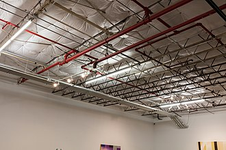 Dallas Contemporary - Original beams and trusses installed in the 1950s. Photo by Kevin Todora.