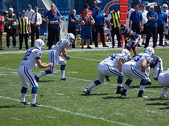 2012 Indianapolis Colts season - Andrew Luck takes the snap