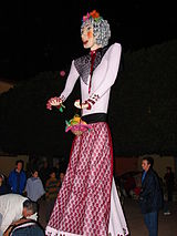 Befana, an ornately-dressed woman