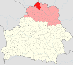 Location of Verkhnyadzvinsk District