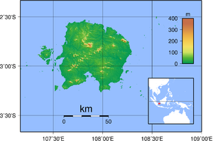 Belitung - Topography of Belitung, Indonesia