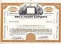 Bell & Howell Stock Certificate (Specimen).jpg