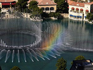 Rainbow in the Fountains of the Bellagio Hotel...