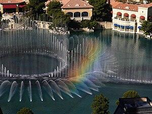 Musical fountain - Dancing fountains at the Bellagio in Las Vegas