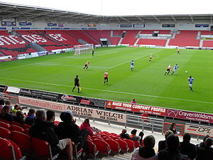 Doncaster Rovers Belles L.F.C. - Doncaster Rovers Belles playing at Keepmoat Stadium in the FA WSL