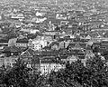 Belváros a Gellérthegyről nézve, elől a Belgrád (Ferenc József) rakpart házai. Fortepan 4712.jpg