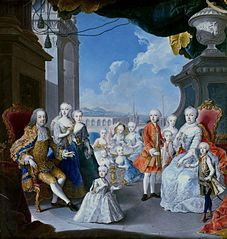 Empress Maria Theresa with her family.