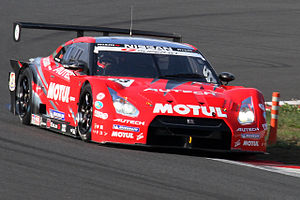 Benoît Tréluyer - Tréluyer driving the Nissan GT-R GT500 for Nismo at the 2010 Super GT Fuji 400km race.