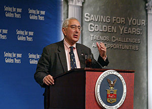 Ben Stein speaking at 2006 National Summit on ...