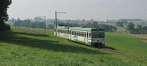 Lausanne–Echallens–Bercher railway - Image: Bercher 2005 09 23