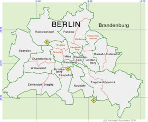 kart over berlin Berlins bydeler – Wikipedia kart over berlin