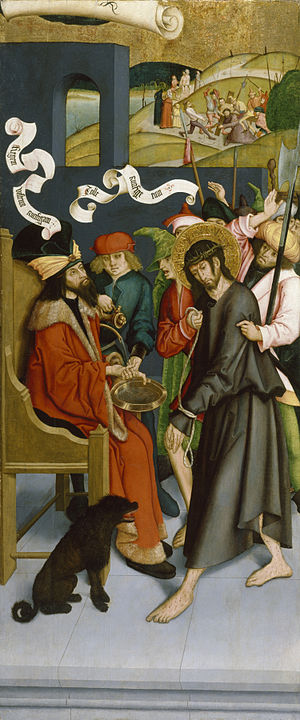 Pilate Washing His Hands of Guilt for Christ's Death
