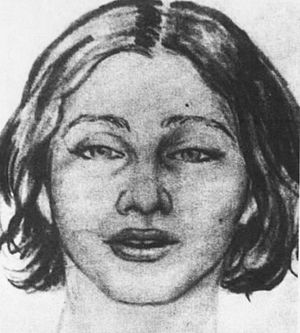 Beth Doe - Original sketch of the victim, created around the time her body was found.