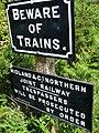 Beware of Trains - geograph.org.uk - 1369434.jpg