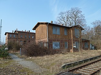 Luckau-Uckro station - The tracks of the Lower Lusatian Railway are currently out of service