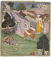 Bhisma and Arjuna