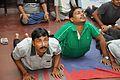 Bhujangasana - International Day of Yoga Celebration - NCSM - Kolkata 2015-06-21 7389.JPG