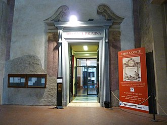 Biblioteca Palatina, Parma - Entrance of the Biblioteca Palatina