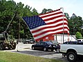 Big American Flag in front of Auto Doctor Towing & Repair.JPG