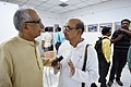 Bikas Chandra Sanyal Talking With Biswatosh Sengupta - 1st Four Ps Group Exhibition - Kolkata 2019-04-17 5310.JPG