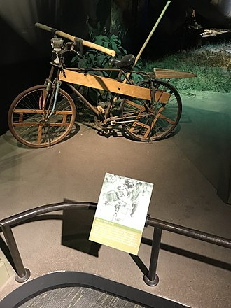 Ho Chi Minh trail - Bicycle used by Communist forces in the Ho Chi Minh Trail to transport supplies. National Museum of American History, Washington, D.C.