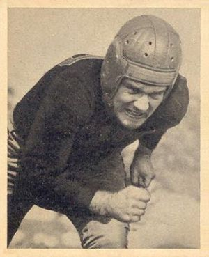 Bill Garnaas - Garnaas on a 1948 Bowman football card