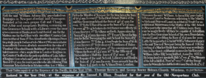 William Adams (haberdasher) - Tables describing the Will of William Adams