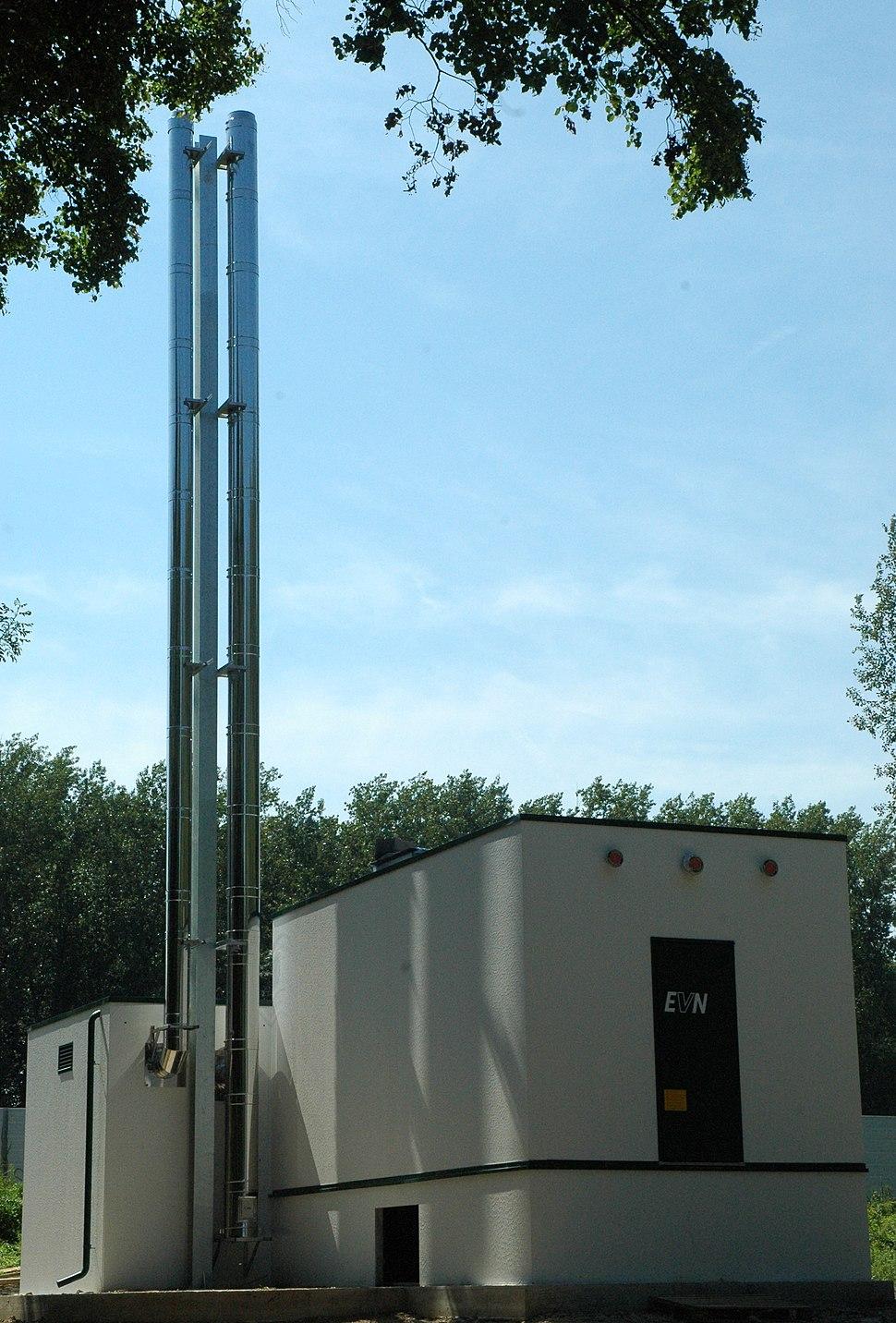 Biomasseheizwerk Spillern Nordansicht