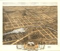 Bird's eye view of Naperville, DuPage County, Illinois 1869. LOC 73693366.tif