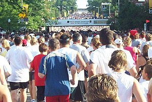 Bix 7 Road Race - Starting Line in 2008